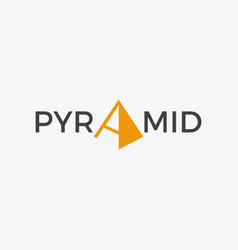 simple pyramid logo sign symbol icon vector image