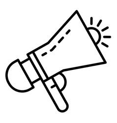 siren megaphone icon outline style vector image