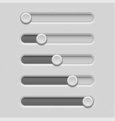 slider bars gray volume level console vector image