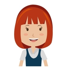 smiling avatar girl graphic vector image