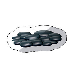 Spa dark gray many volcanic rocks vector