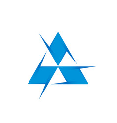 Triangle or pyramid - logo design template vector