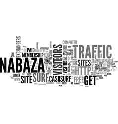 what are traffic exchangers text word cloud vector image