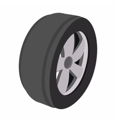 Wheel cartoon vector image