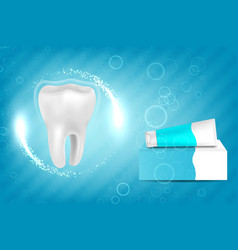 Whitening toothpaste ad vector