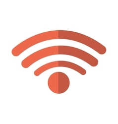 Wifi connection isolated icon vector