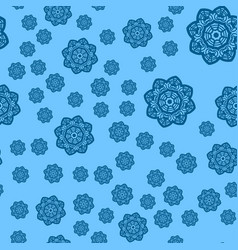winter blue background with snowflakes seamless vector image