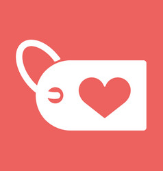 a heart icon with a shopping label vector image