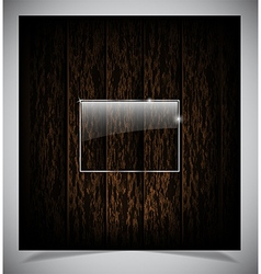 Abstract dark wood background vector image vector image