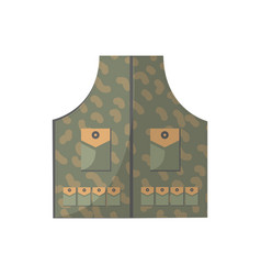 camouflage vest isolated icon vector image