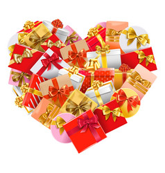 gifts heart vector image vector image