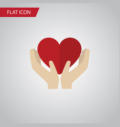 isolated care flat icon save love element vector image vector image