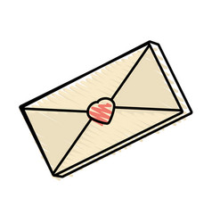 message mail romantic drawing vector image vector image