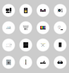Set of 16 editable tech icons includes symbols vector