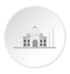 Taj mahal icon circle vector