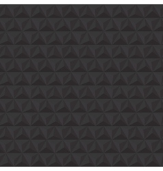 Black geometric triangle seamless pattern vector image vector image