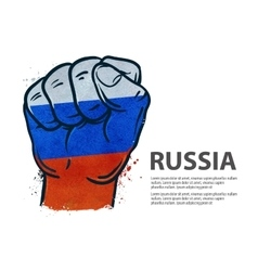 fist flag Russia Moscow vector image