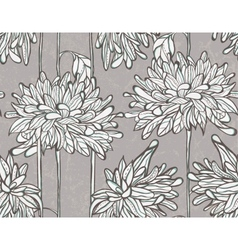 Seamless pattern with chrysanthemum vector image