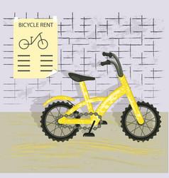 yellow bike isolated vector image