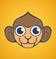 Cute monkey logo vector