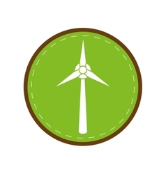 ecology wind turbine electricity generator green vector image
