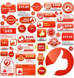great collection of sale signs vector image vector image