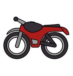 motorcycle vehicle isolated icon vector image