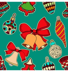 Seamless background for the New Year holiday vector image
