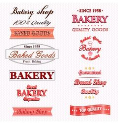 Vintage Retro Bakery Badges And Labels vector image vector image