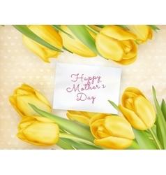 Happy mother day tulips flower eps 10 vector