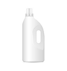 laundry detergent white plastic bottle vector image