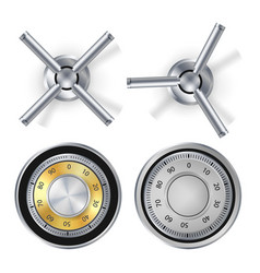 metal combination lock isolated realistic vector image