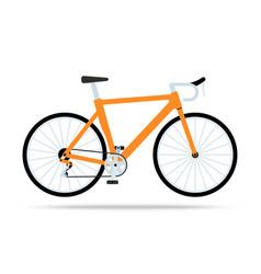orange bicycle flat icon bike isolated on vector image