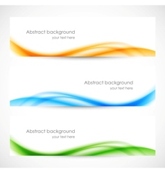 Set of colorful softness banners vector image vector image