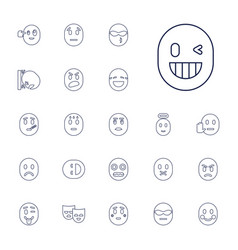 22 expression icons vector