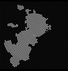 abstract map moscow radial dots halftone vector image