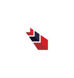 arrow logo template vector image