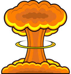 Atomic nuclear explosion graphic vector