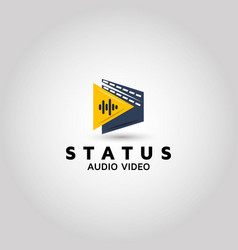 Audio video logo design inspiration vector