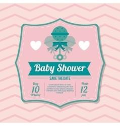 Baby Shower design maraca icon pink vector