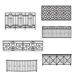 Balcony Rails vector image