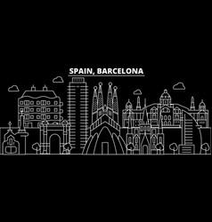Barcelona city silhouette skyline spain vector