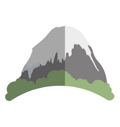 Big mountain ice icon vector