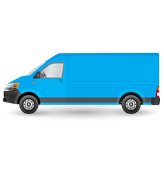 Blue truck template cargo van eps 10 isolated on vector