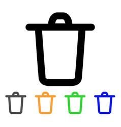 bucket stroke icon vector image