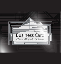 business card interior design and architecture vector image