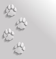 Cat paw flat vector