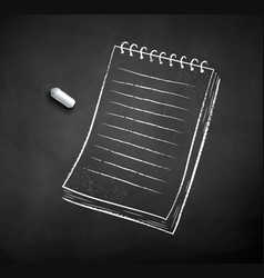 chalked notepad vector image