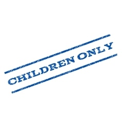 Children Only Watermark Stamp vector image