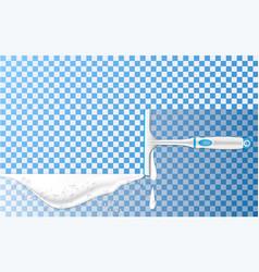 clean soap foam concept background realistic vector image